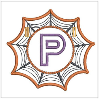 Spiderweb ABCs Font - P - Embroidery Designs