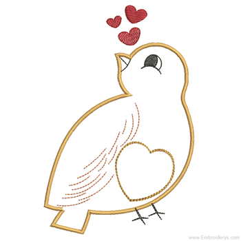 Sweet Finch Applique - Embroidery Designs