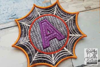 Spiderweb ABCs Font - V - Embroidery Designs