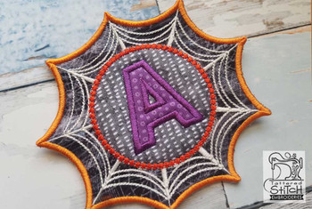 Spiderweb ABCs Font - W - Embroidery Designs