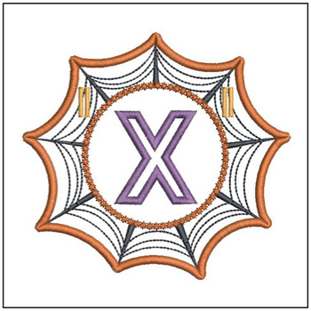 Spiderweb ABCs Font - X - Embroidery Designs