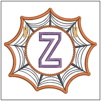 Spiderweb ABCs Font - Z - Embroidery Designs