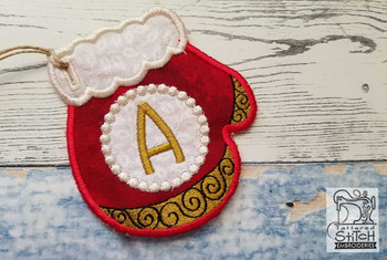 Mitten ABC's - D - In the Hoop - Embroidery Design