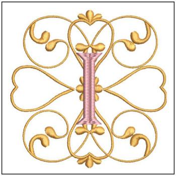 Monogram Swirls ABCs - I - Embroidery Designs