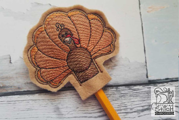 Turkey Pencil Topper - Embroidery Designs