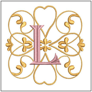 Monogram Swirls ABCs - L - Embroidery Design