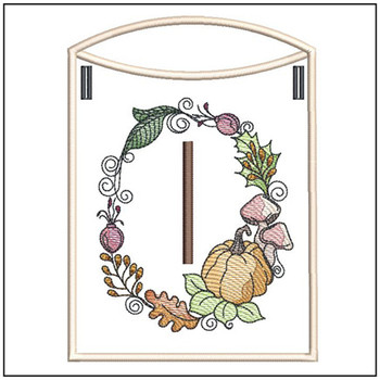 Pumpkin Wreath Bunting ABCs - I - Embroidery Designs