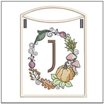 Pumpkin Wreath Bunting ABCs - J - Embroidery Designs