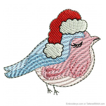 Christmas Finch Feltie - Embroidery Designs