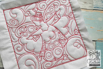 Christmas Quilt Blocks 2 - Multiple Sizes - In the Hoop - Continuous Line - Instant Downloadable Machine Embroidery