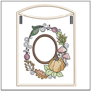 Pumpkin Wreath Bunting ABCs - O - Embroidery Designs