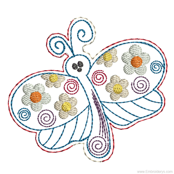 Dragonfly Headband Slider - In the Hoop -Embroidery Designs
