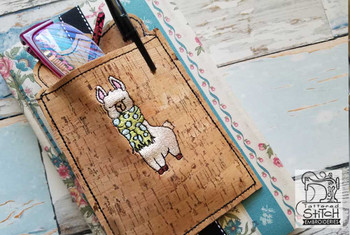 "Llama Book Buddy - In the Hoop - Fits a 5x7"" Hoop - Machine Embroidery Designs"