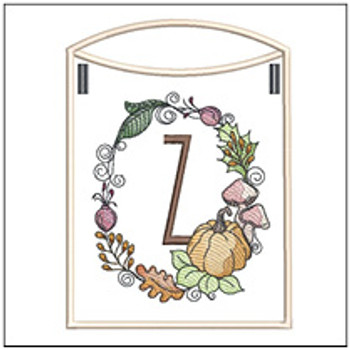 Pumpkin Wreath Bunting ABCs - Z - Embroidery Designs