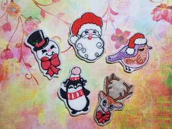 30% Off - Christmas Feltie Bundle 1 - Embroidery Designs