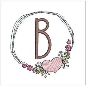 Heart Stain  ABCs - B - Embroidery Designs
