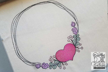 """Heart Stain  - Fits a 4x4, 5x7"""" & 8x8"""""""" Hoop - Machine Embroidery Designs"""