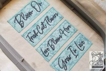 30% off - Bloom Floral Labels  - Machine Embroidery Designs