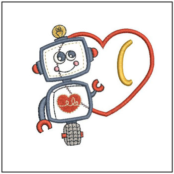 Robot Applique ABCs - C - Embroidery Designs