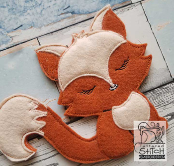 "Woodland Stuffie - Fox - In the Hoop - Fits a 5x7"" & 8x8"" Hoop - Machine Embroidery Designs"