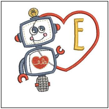 Robot Applique ABCs - E - Embroidery Designs