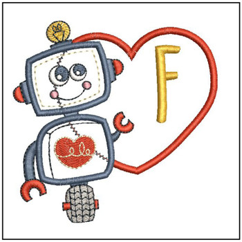 Robot Applique ABCs - F - Embroidery Designs