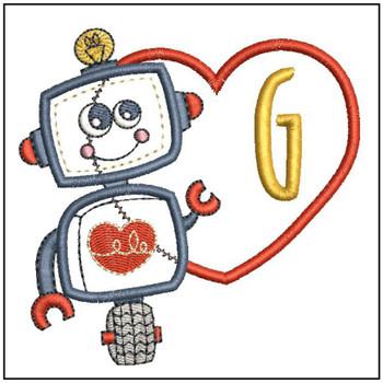 Robot Applique ABCs - G - Embroidery Designs