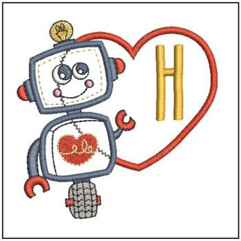Robot Applique ABCs - H - Embroidery Designs