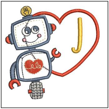 Robot Applique ABCs - J - Embroidery Designs