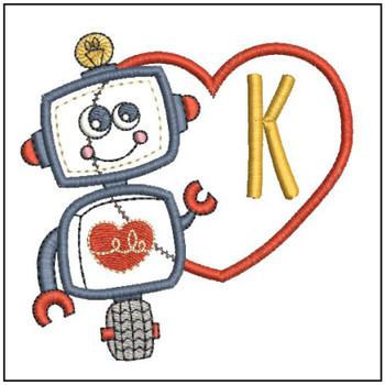 Robot Applique ABCs - K - Embroidery Designs