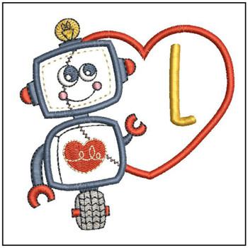 Robot Applique ABCs - L - Embroidery Designs