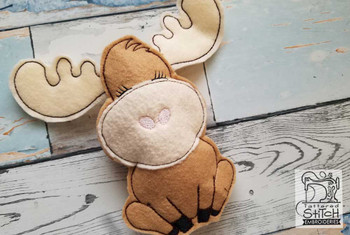 Woodland Stuffie - Moose - Embroidery Designs