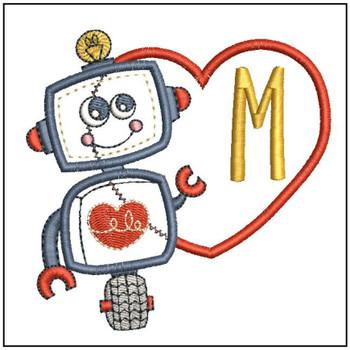 Robot Applique ABCs - M - Embroidery Designs