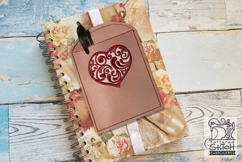 """Heart Book Buddy - In the Hoop - Fits a 5x7"""" Hoop - Machine Embroidery Designs"""