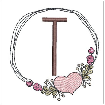 Heart Stain  ABCs - T - Embroidery Designs