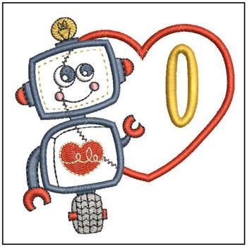 Robot Applique ABCs - O - Embroidery Designs