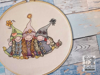 3 Sister Gnomes - Embroidery Designs
