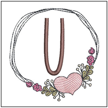 Heart Stain  ABCs - U - Embroidery Designs