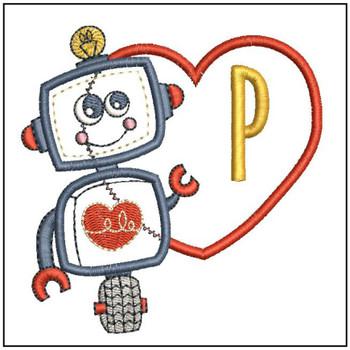 Robot Applique ABCs - P - Embroidery Designs