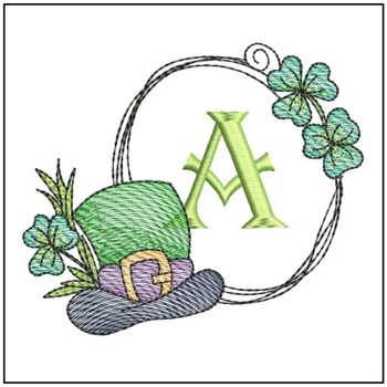 Shamrock ABCs - A - Embroidery Designs