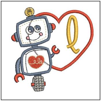 Robot Applique ABCs - Q - Embroidery Designs