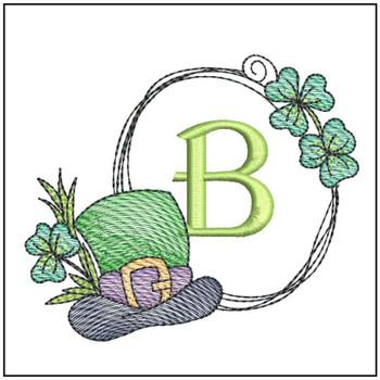 Shamrock ABCs - B - Embroidery Designs