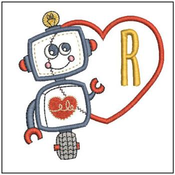 Robot Applique ABCs - R - Embroidery Designs