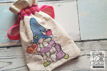 """Be Mine Valentine Gnome Bag - Fits a 5x7"""" & 6x11"""" Hoop - Machine Embroidery Designs"""