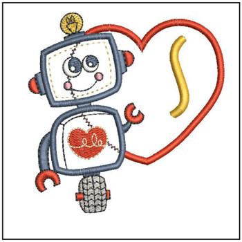 Robot Applique ABCs - S - Embroidery Designs