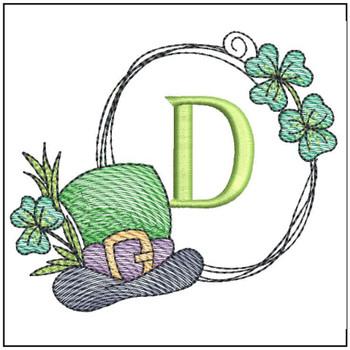 Shamrock ABCs - D - Embroidery Designs