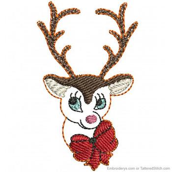 Adorable Reindeer Feltie - Embroidery Designs