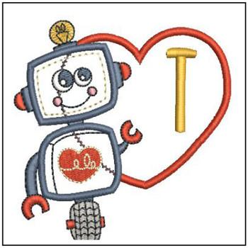 Robot Applique ABCs - T - Embroidery Designs