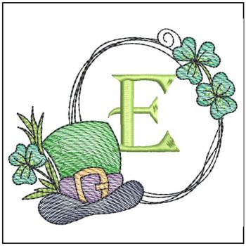 Shamrock ABCs - E - Embroidery Designs