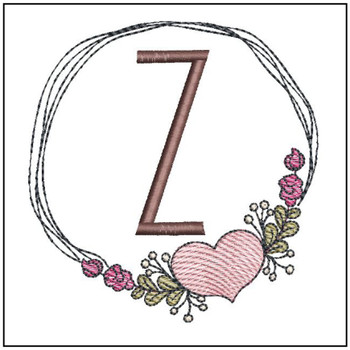 Heart Stain  ABCs - Z - Embroidery Designs